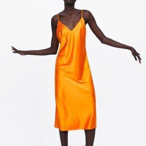 Zara Satin Slip Dress